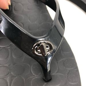 Coach Shoes - Coach Abbigail flip flops size 5